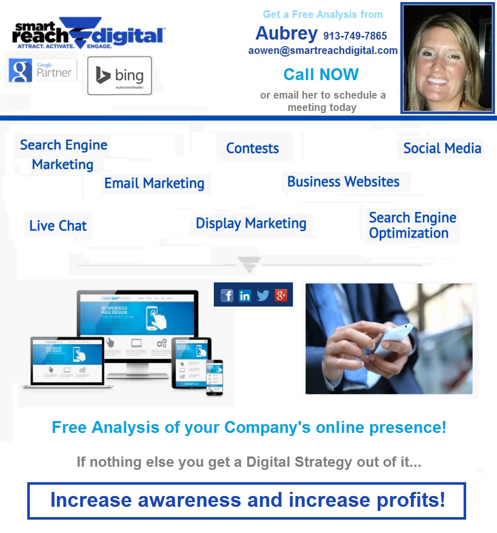 SEM SEO Email Campaign Social Media Marketing and Digital Strategy - Aubrey Owen