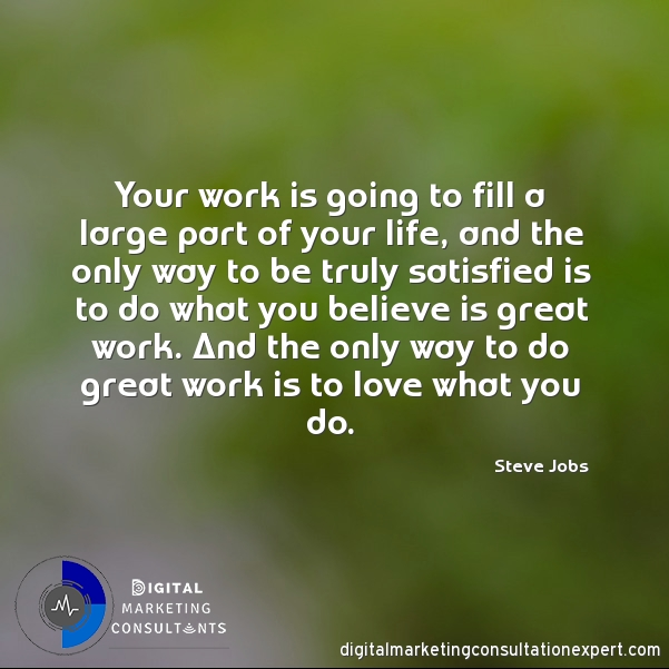 The only way to do great work is to love what you do!! – Aubrey Owen