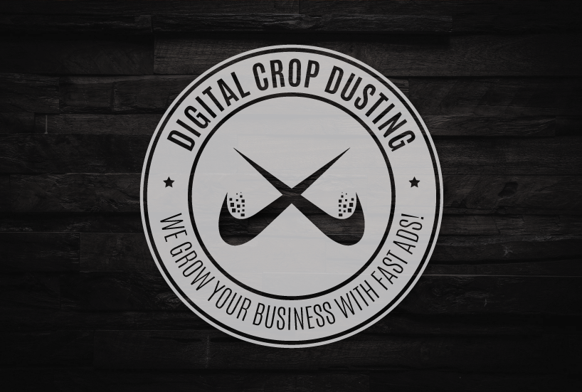digital crop dusting circle logo Aubrey Owen Kansas City